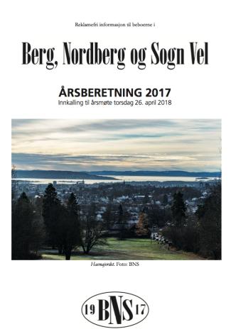 BNS Årsrapport 2017 Forside